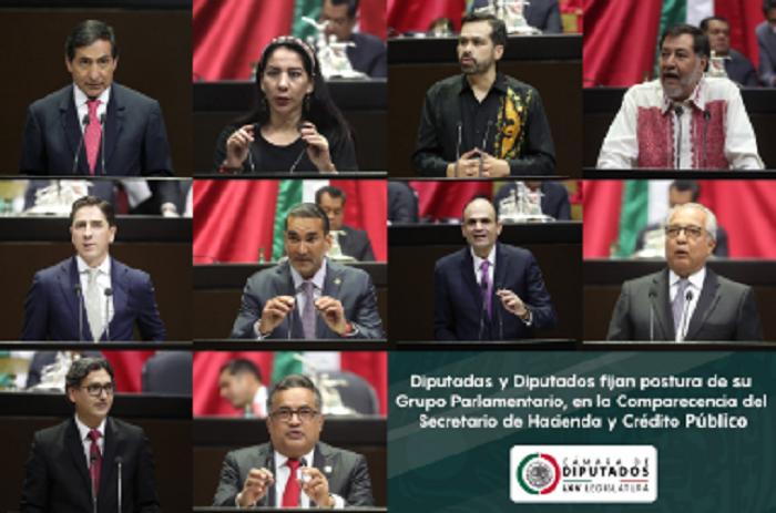 Diputados fijaron postura sobre política económica ante el titular de la SHCP