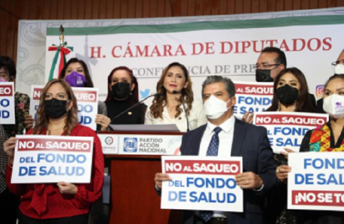 Afirma PAN que AMLO y Morena nuevamente quieren saquear el Fondo de Salud